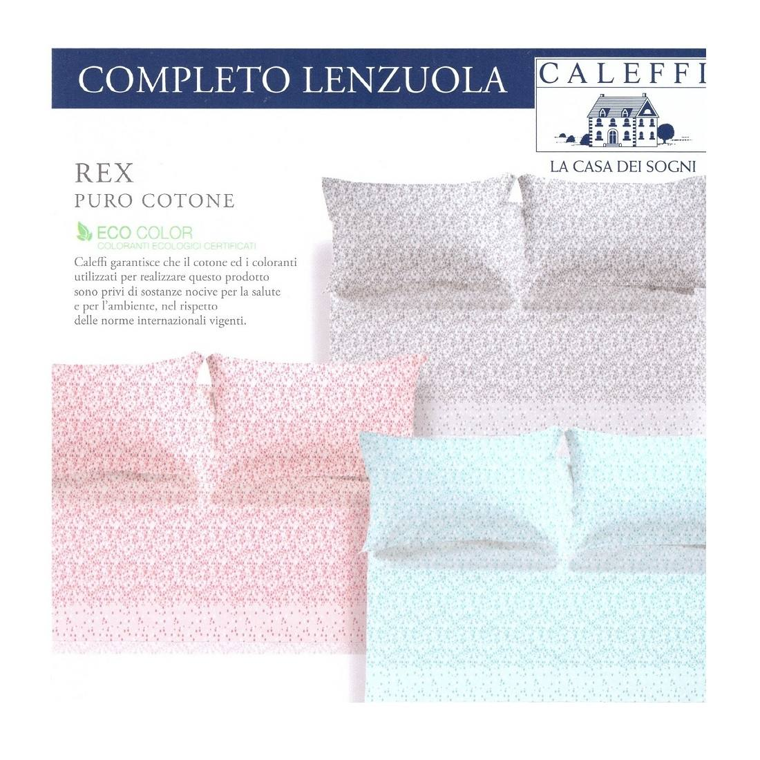 LENZUOLA COMPLETO LETTO RIVIERA LENZUOLO COLORS  MADE IN ITALY MATRIMONIALE
